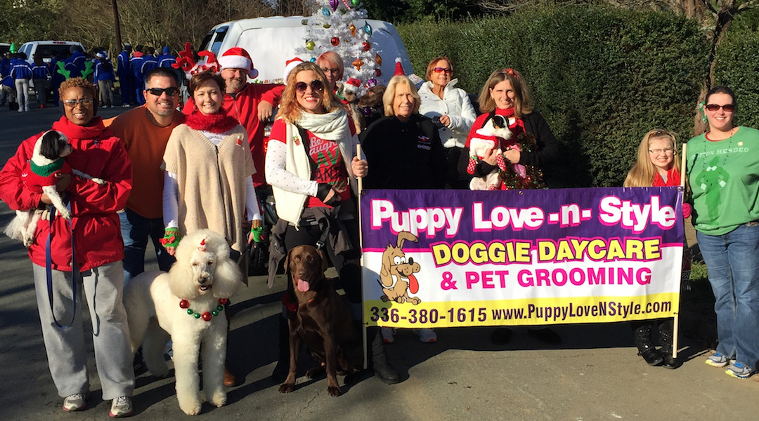 Puppy Love -N- Style Back at the Graham Christmas Parade